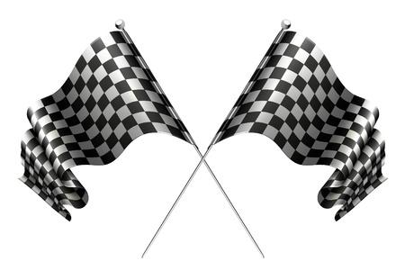 Crossed flags Stock Vector - 13759020