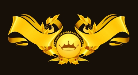 Design Element, Emblem gold Vector