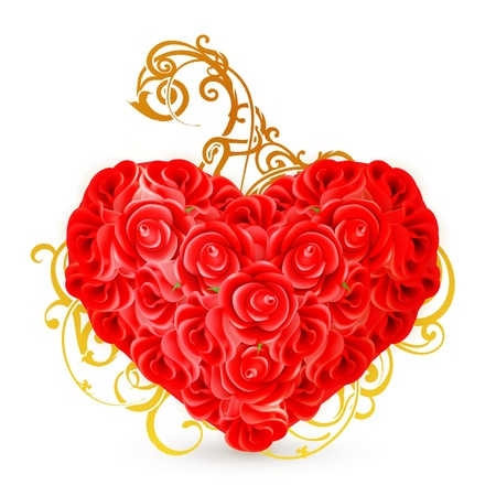 Heart of roses Stock Vector - 13759077
