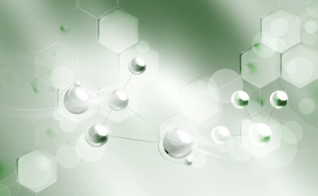 chemical: Molecules background