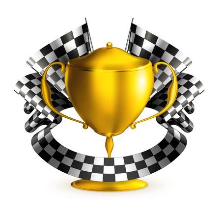 bandera carrera: Premio raza Vectores