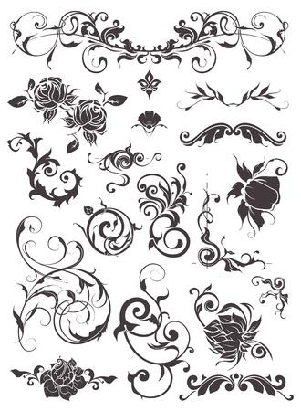 filigree: Vintage design elementen, stellen