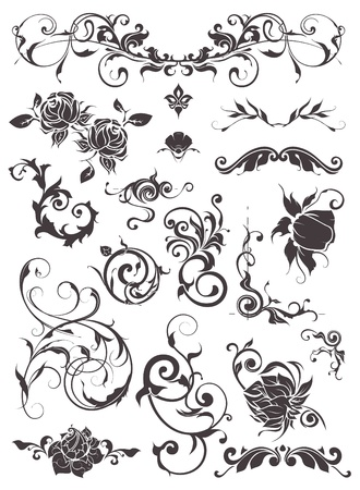 filigree background: Vintage design elements, set