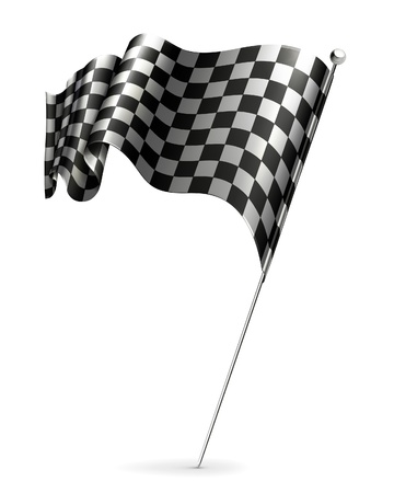 Waving flag checkered Stock Vector - 13777219