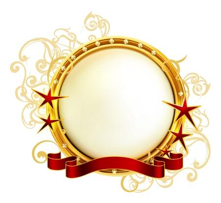 Golden Emblem Vector