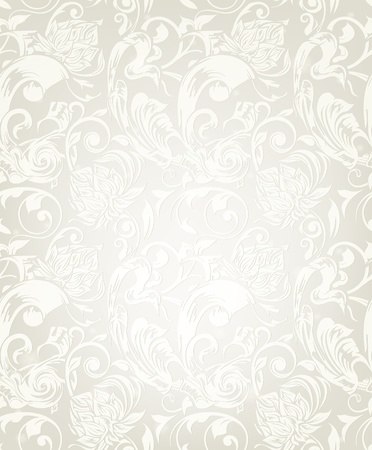 Seamless White Floral Pattern Stock Vector - 13777265