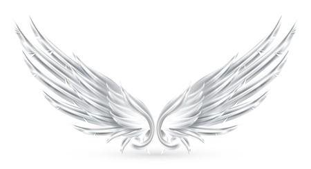 clip art wings: Wings White Illustration