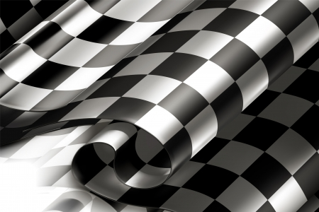 racing bicycle: Checkered Background horizontal