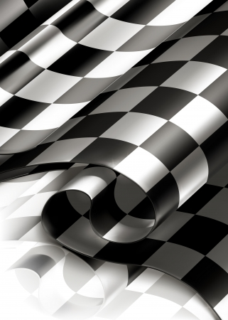 finishing checkered flag: Checkered Background vertical Illustration