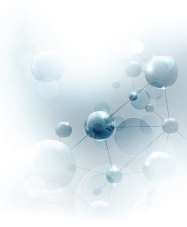 science chemistry: Futuristic background with molecules blue Illustration