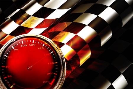 schwarz weiss kariert: Racing Hintergrund Horizontale Illustration