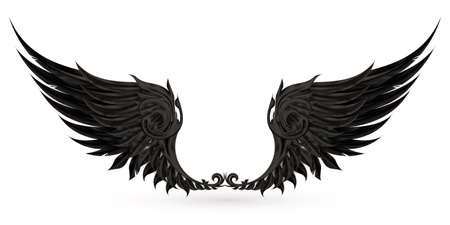 Wings black Stock Vector - 13777246
