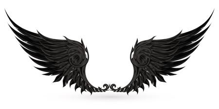 Wings black Vector