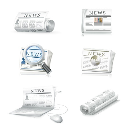 Newspaper collection Stock Vector - 13781023