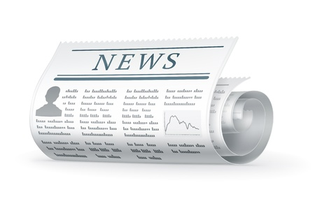 Newspaper rolled Stock Vector - 13781017