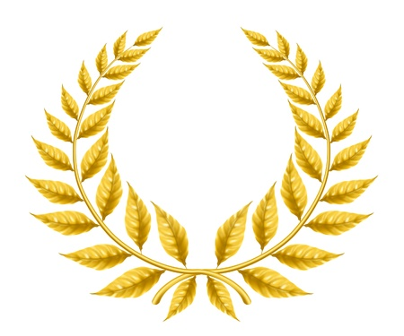 laurel leaf: Golden wreath