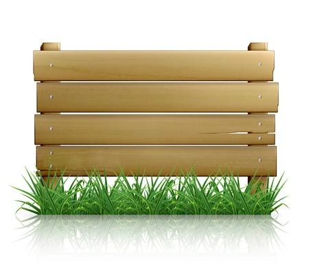 Wooden message board Stock Vector - 13787383