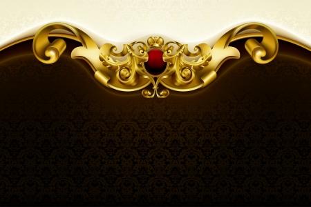 king crown: Vintage background Illustration