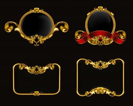 Vintage emblem set on black