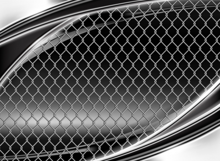 tel kafes: Wire mesh, black background Çizim