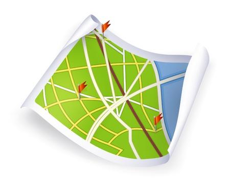 Road Map Vector Illustration
