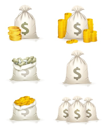 Bags of money Stock Vector - 13798373