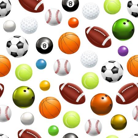 Balls, seamless pattern Vector