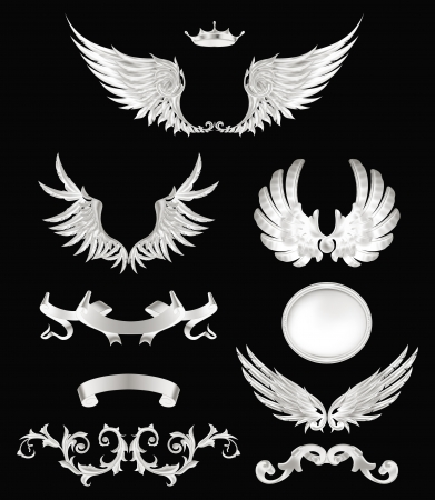 Design elements with wings, high quality Stock Vector - 13798385