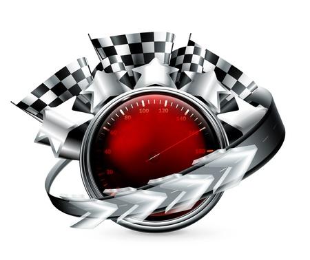 mile: Rally Emblem Illustration
