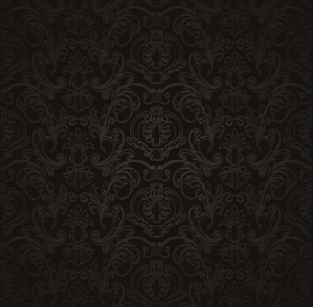 black silk: Black Seamless wallpaper pattern
