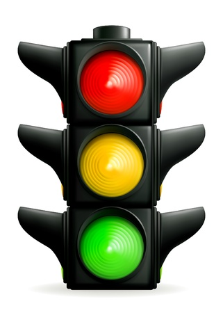 cruce de caminos: Sem�foro Vectores