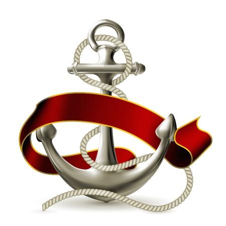 at anchor: Anchor emblema
