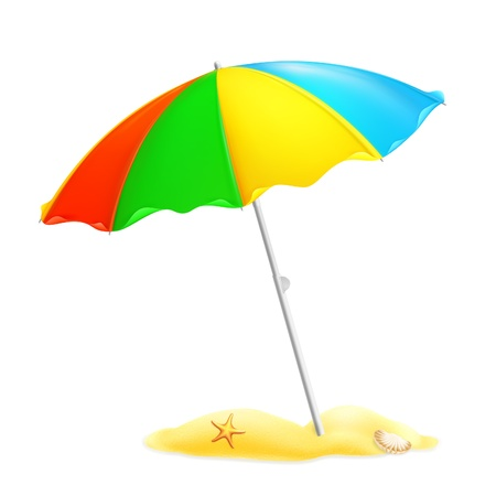 Plage parasol Vecteurs