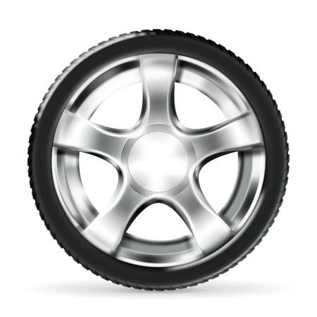 car wheel: Rueda de coches Vectores