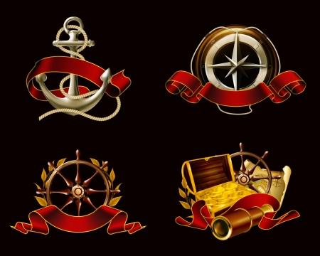 pioneer: Embl�me marin mis sur noir
