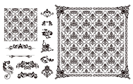 Seamless pattern and design elements Stock Vector - 13798335