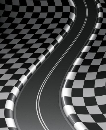 checker flag: Road