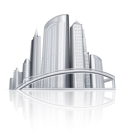 Ciudad Ilustración de vector