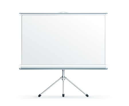 Blank Projection screen Illustration