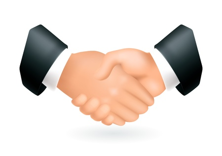 Handshake, icon Stock Vector - 13798502