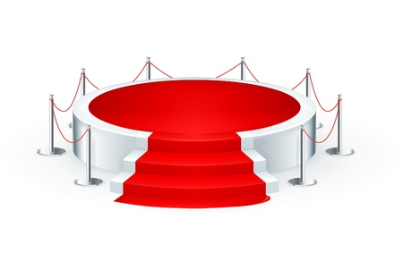 red rug: Podium, icon Illustration