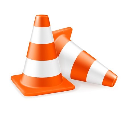 Traffic cone, icon Stock Vector - 13798507