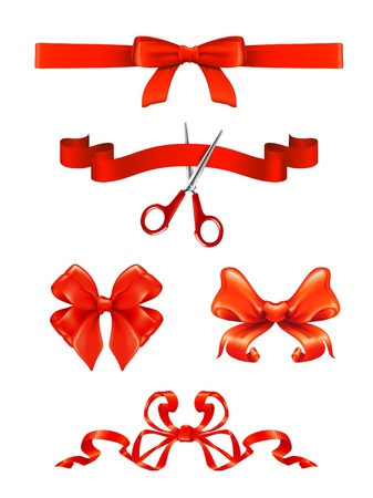 Bows and ribbons set Stock Vector - 13798578