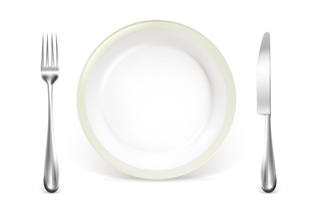 Dinner couvert Vector Illustratie