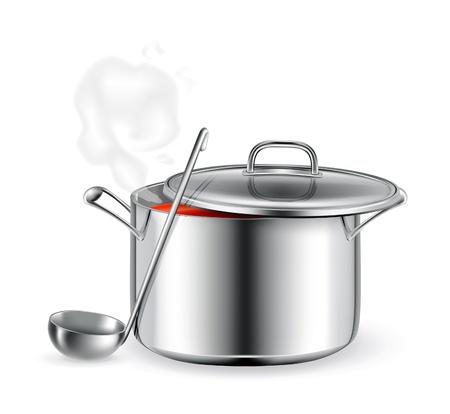 Hot soup Stock Vector - 13798551
