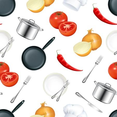 Background Kitchen, seamless Vector