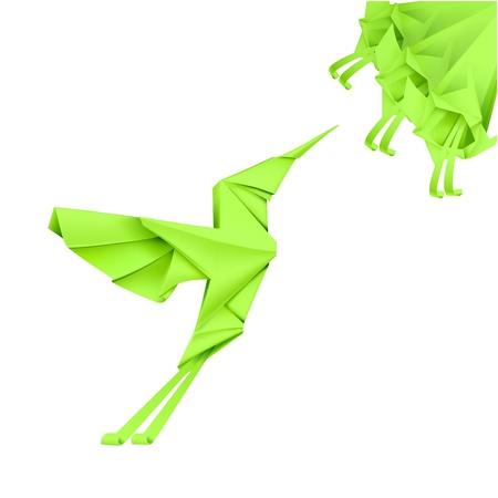 origami bird: Paper Colibri