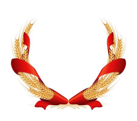 Wreath of wheat Stock Vector - 13798568