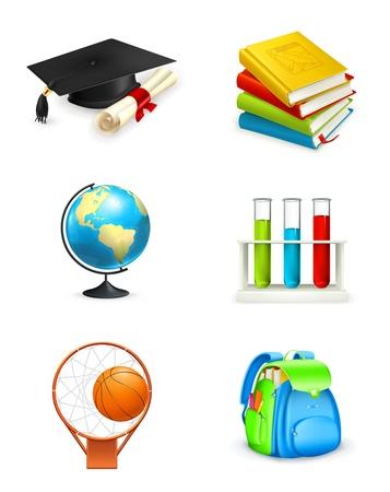 estudiantes de colegio: Los iconos de la Escuela