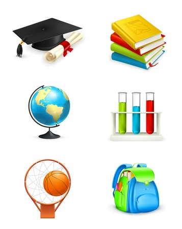 School icons Stock Vector - 13798631
